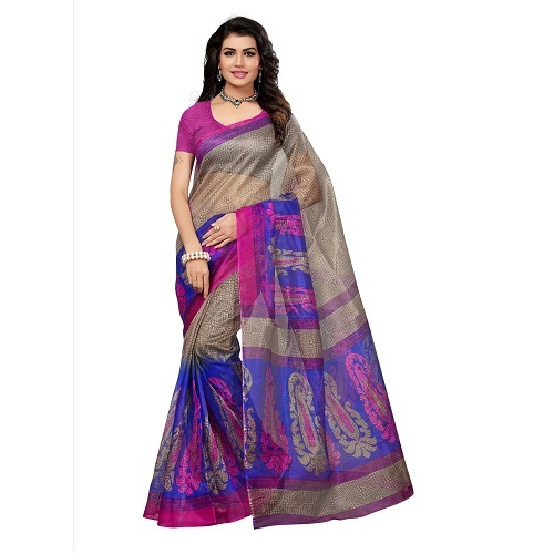 Fancy Printed Kota Doria Saree