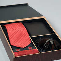 Tie Belt Wallet Gift Set Box