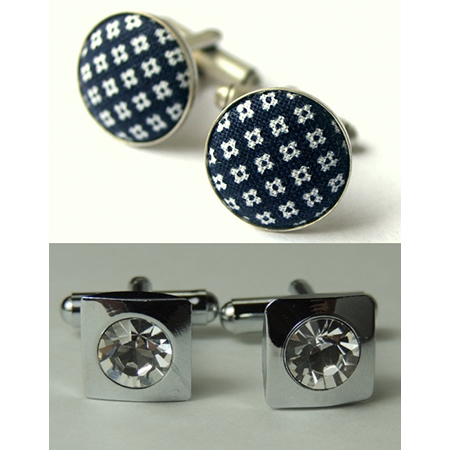 Cufflinks Cuff links Fabric Inlaid