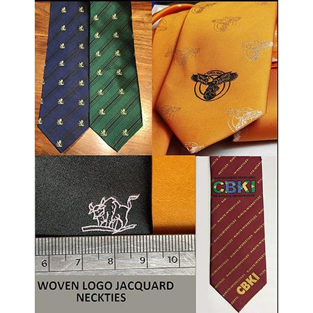 Silk Neckties Customized Logo