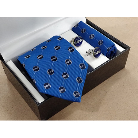 Uniform neck tie cufflinks set