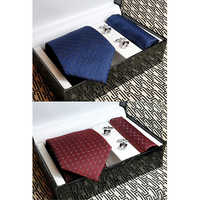 Micro tie cufflinks pocket Square Gift Combo