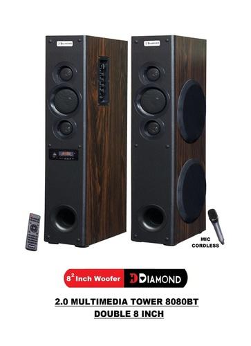 2.0 Multimedia Tower Speaker - 8080BT