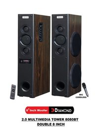 2.0 Multimedia Tower Speaker - 8080BT