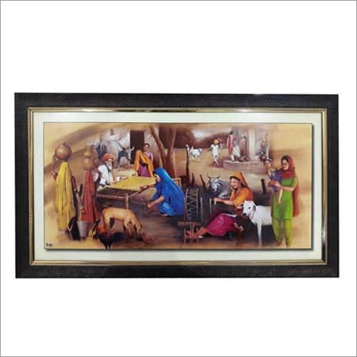 Decorative Punjabi Culture Scenery Frames