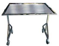 Hospital Mayo Double Stand Trolley