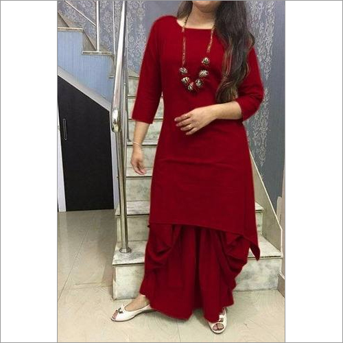 Cotton Kurti With Dhoti