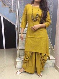 Cotton Kurti With Dhoti