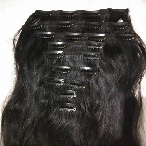 Straight clip in hair