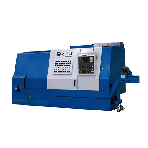 Blue Color Slant Bed CNC Lathe