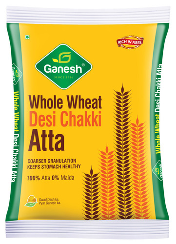 Whole Wheat Chakki Atta with Colour