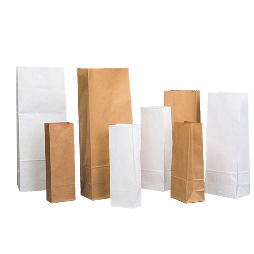 Unlined Block Bottom Paper Bags