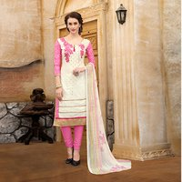 Designer Unstitched Cotton Salwar Suit