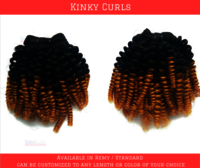 Colored Kinky Curls