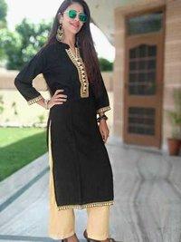 stylish black kurti