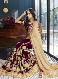 Stone Work Georgette Saree