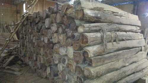 Teak wood rough square