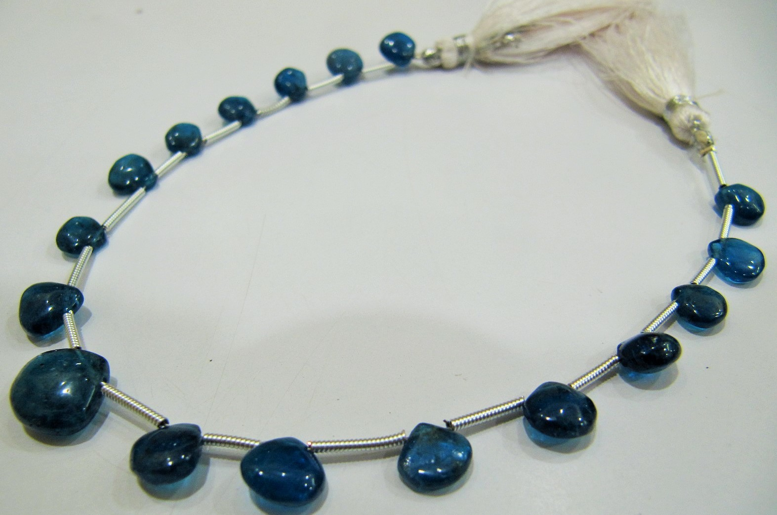 AAA Quality Natural Neon Apatite Heart Shape Beads .