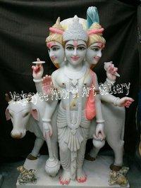 White Dattatreya Statue
