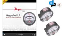 Dwyer USA Model 2012 Magnehelic Gage Range 0-12 Inch WC