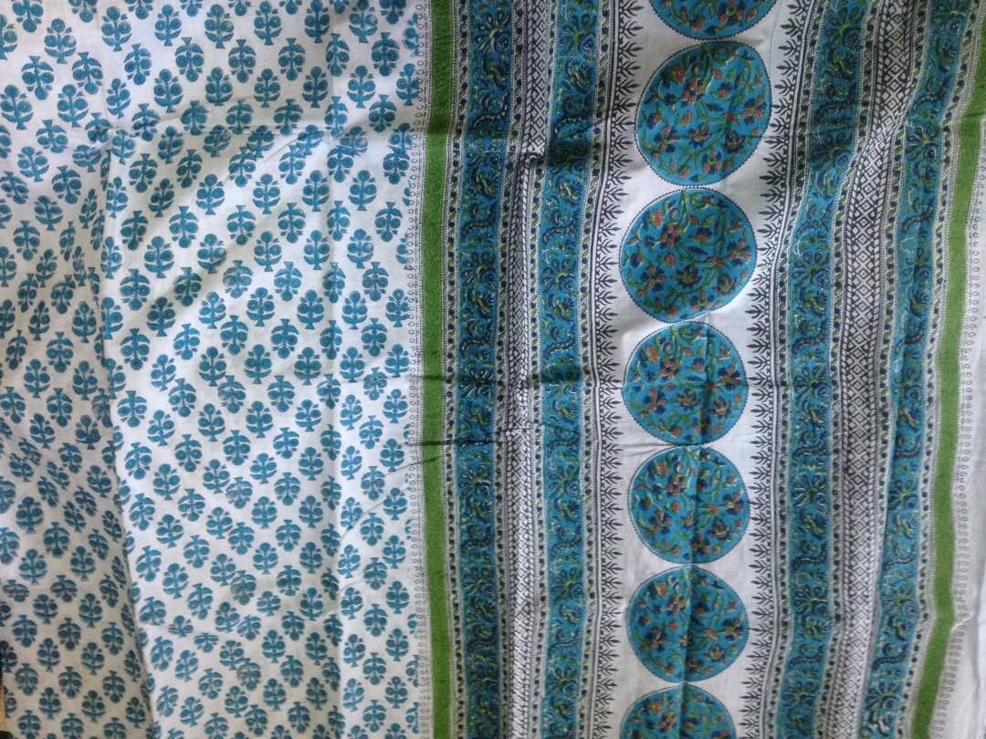 Hand Printed Cotton Sarees