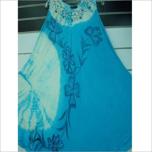 Indian Printed Rayon Umbrella Dress