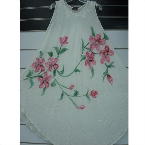 White Rayon Dress