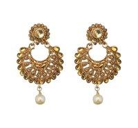 Brown Chandbali Earrings