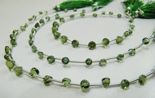 AAA Quality Natural Green Apatite Gemstone Onion Shape Beads