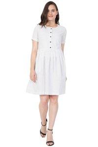 Mythya Ladies Wrap White Dress