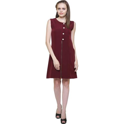 Mythya Ladies Maxi Maroon Dress