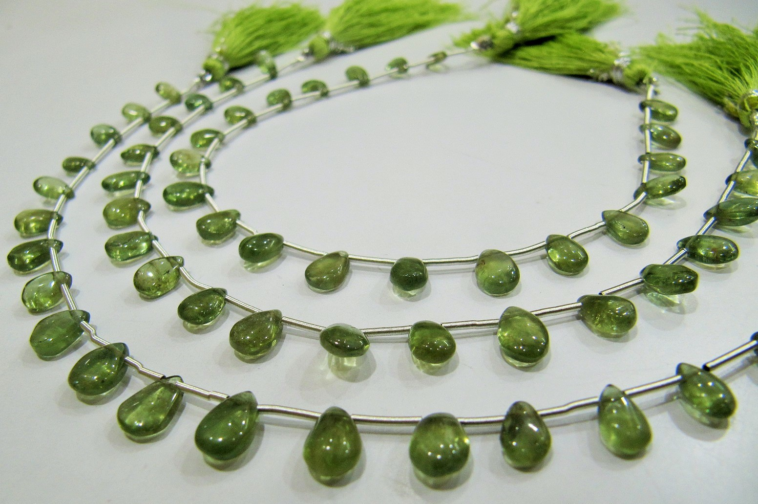AAA Quality Natural Green Apatite Gemstone Pear Shape  beads