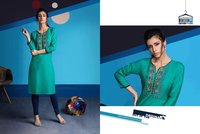 Embroidered Rayon Kurtis