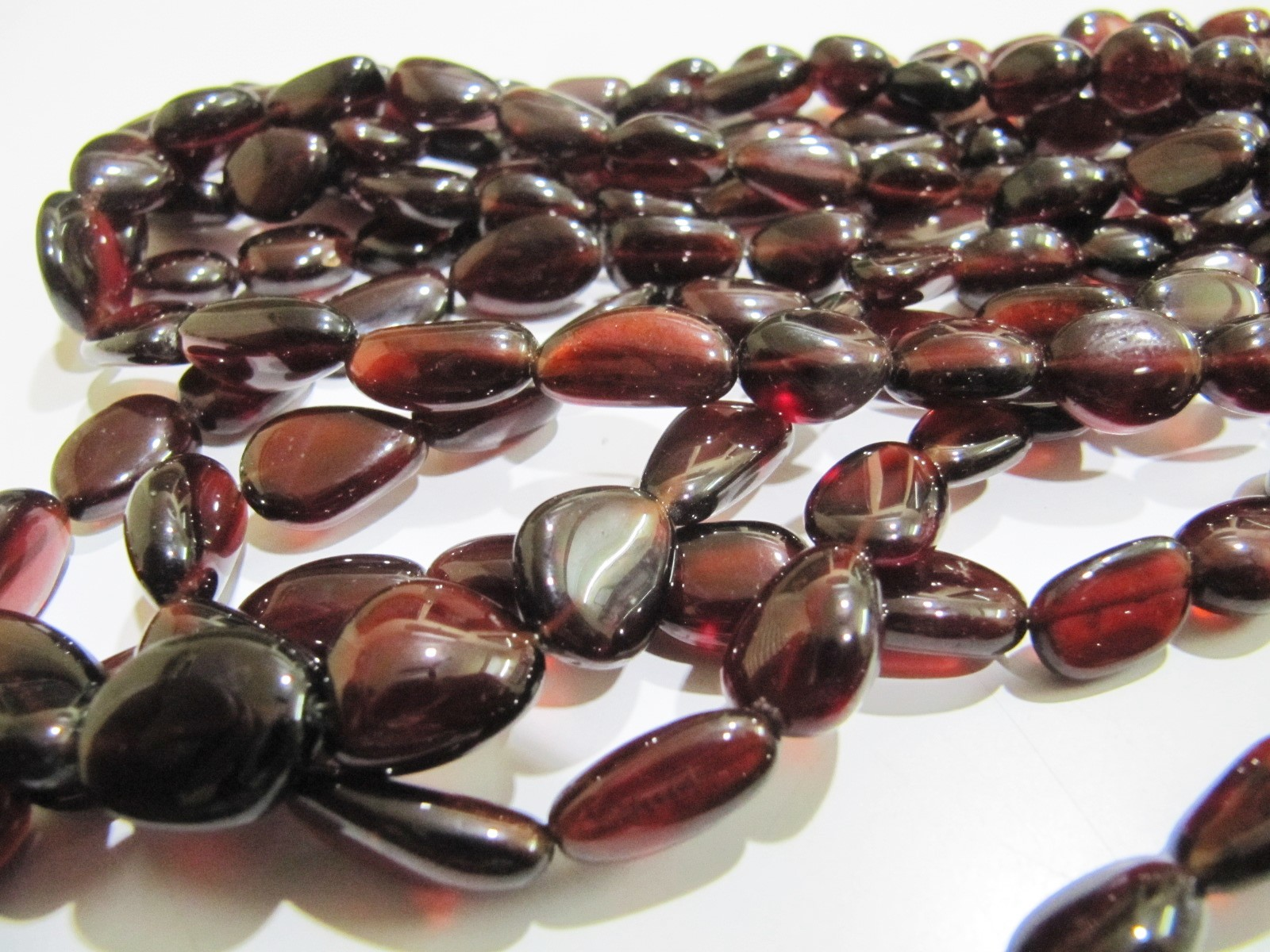 AAA Quality Natural Hessonite Garnet Free Shape Beads