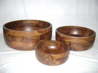 WOODEN BOWL SET OF 3