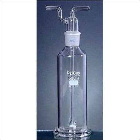 Gas Washing Bottles, with sintered disc