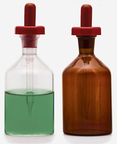Dropping Bottle, Soda glass