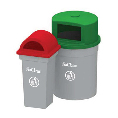 Hood Type Outdoor Bins