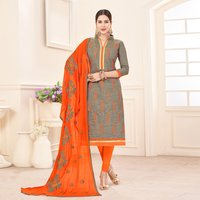 Cotton Heavy Embroidered Suit
