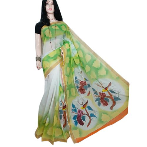 Ladies Green Designer Saree