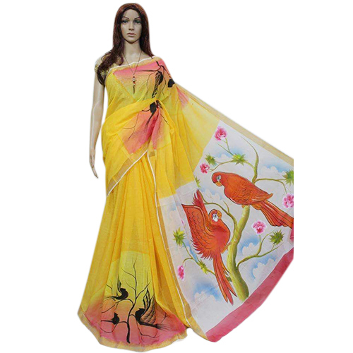 Ladies Yellow Saree