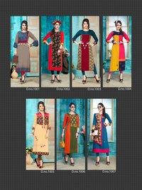 Rayon With Print Kurtis Collection