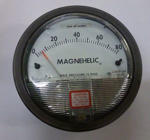 Dwyer 2000-80CM Magnehelic Differential Pressure Gauge