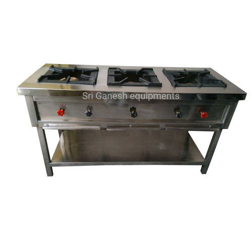 Three Gas Burner Cooking Range