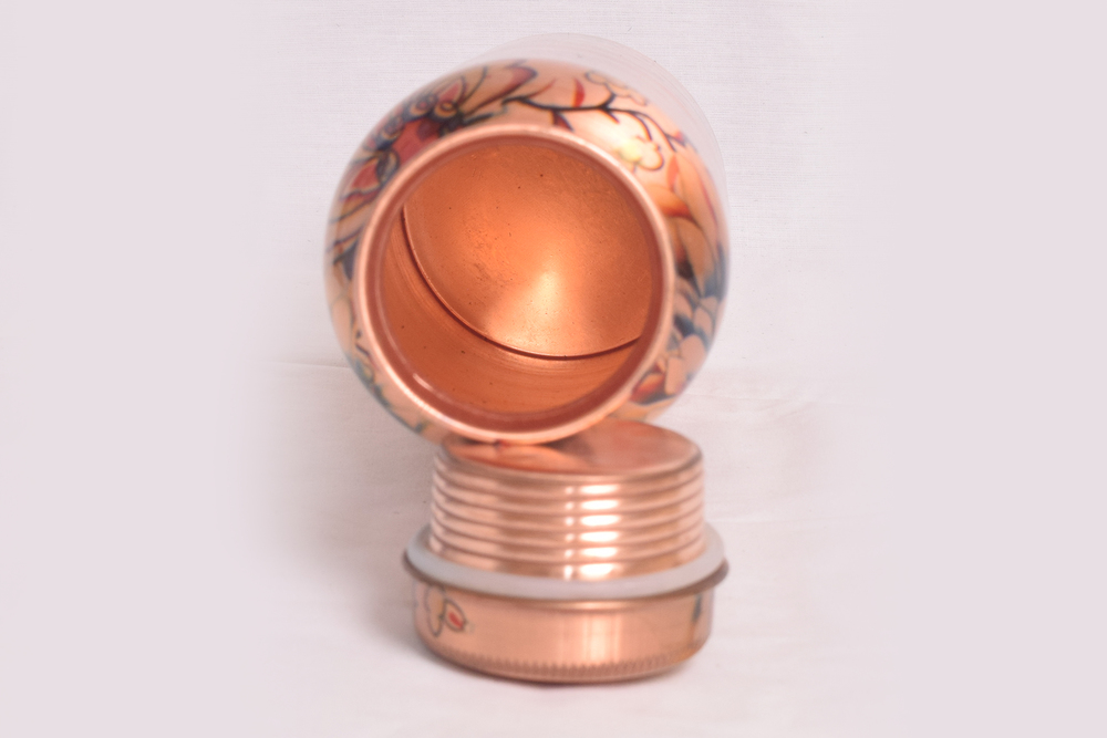 Copper Water Glass and Bottels