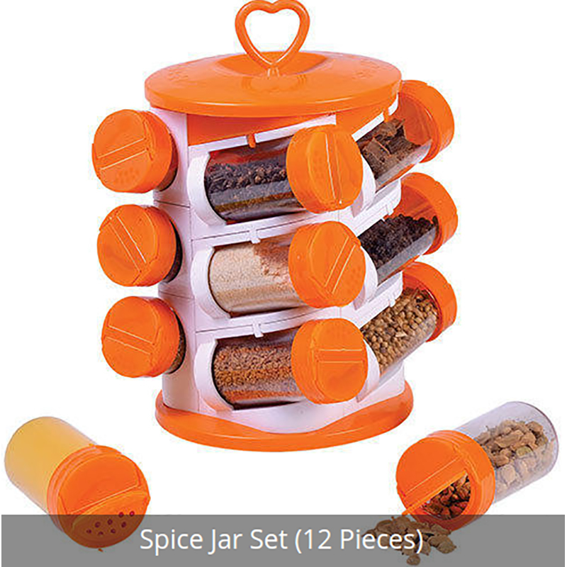 Plastic Spice Rack Set 12 Piece