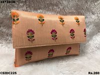 Raw Silk Clutch
