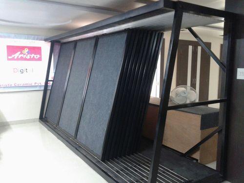 Industrial Vertical Tile Display Rack Slider