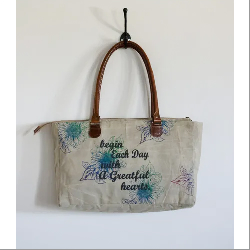 Colorful Printed Short Tote Bag
