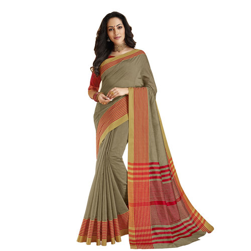 Exclusive Cotton Printed Saree With Blouse Pieces